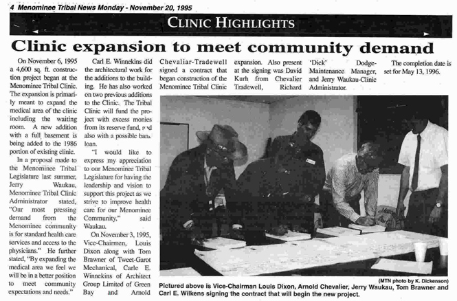 Menominee Tribal Clinic Celebrates Second Expansion