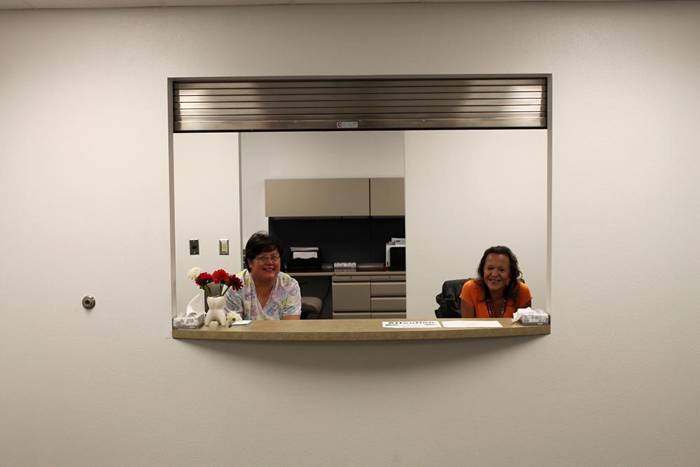 Reception Window Mt Clinic